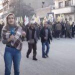 أهالي شمال سوريا يتظاهرون ضد الجرائم التركية
