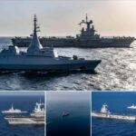 القوات المصرية والفرنسية تنفذان تدريبًا بحريًا عابرًا