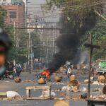 استمرار الاحتجاجات ضد المجلس العسكري الحاكم في ميانمار