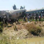 هيئة السكك الحديدية توضح سبب حادث تصادم قطاري سوهاج