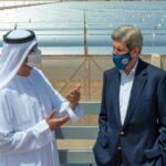 جون كيري يزور «نور أبوظبي»  أكبر محطة للطاقة الشمسية في العالم