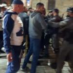 إصابة بالرأس خلال مواجهات في منطقة باب العامود بالقدس المحتلة
