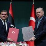 أردوغان والدبيبة يؤكدان الالتزام باتفاق ترسيم الحدود البحرية