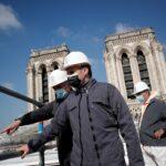 في الذكرى الثانية للحريق.. الرئيس الفرنسي يتفقد كاتدرائية نوتردام