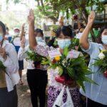 معارضو الحكم العسكري في ميانمار ينظمون إضرابا صامتا