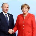 بوتين وميركل يعربان عن القلق بشأن التوتر في شرق أوكرانيا