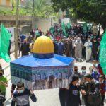 مظاهرات في غزة تنديدا بالعدوان الإسرائيلي على القدس