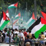 احتجاجات إندونيسية ضد الدعم الأمريكي لإسرائيل