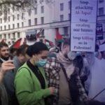وقفة تضامنية مع الفلسطينيين أمام مقر رئاسة وزراء بريطانيا