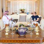 الرئيس المصري يلتقي ولي العهد السعودي في شرم الشيخ