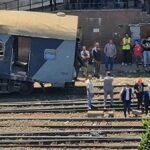8 مصابين في اصطدام جرار بقطار في الإسكندرية