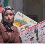 فنانة فلسطينية تحول ركام منزلها المهدم في غزة إلى لوحة فنية