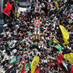 وداع بالزغاريد.. الفلسطينيون يشيعون جثمان الشهيد فادي وشحة