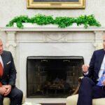 بايدن يستقبل العاهل الأردني في واشنطن
