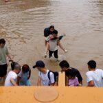 إخلاء مدينة صينية غارقة في مياه الفيضانات