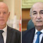 قيس سعيد يناقش مستجدات الأزمة التونسية مع نظيره الجزائري