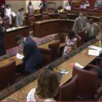 شاهد.. البرلمان الإسباني في حالة هلع بسبب فأر