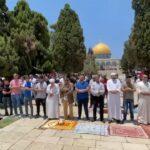 شاهد| الفلسطينيون يؤدون صلاة الجمعة بالمسجد الأقصى