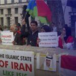 تظاهرة في لندن تضامنًا مع احتجاجات إيران