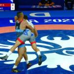 المصري عماد أشرف يكتسح منافسه الإسرائيلي في بطولة العالم للمصارعة