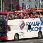روسيا تستقبل بعثتها الأولمبية في احتفال مهيب بالميدان الأحمر