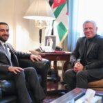 ملك الأردن يستقبل رئيس مجلس النواب العراقي