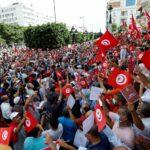 احتجاجات في تونس ضد الرئيس قيس سعيد