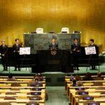 نجوم فرقة البوب «بي تي إس» ينغمسون في الدبلوماسية العالمية