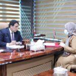المنفي يبحث مع وزيرة العدل الليبية ملف السجون والإفراجات الأخيرة