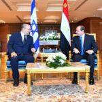 السيسي يؤكد لبينيت ضرورة تثبيت التهدئة بين الفلسطينيين والإسرائيليين