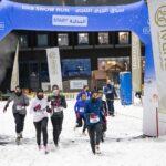 النسخة الثانية من سباق دبي للجري الثلجي تحقق نجاحا كبيرا